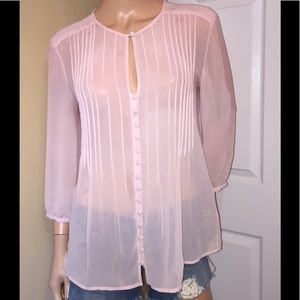 New York and Co med. dusty pink colored top D-6